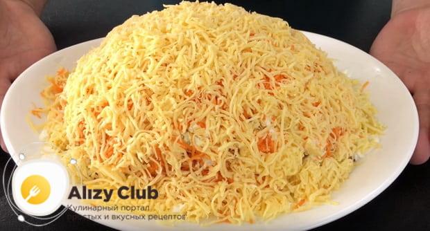 Готовим очень вкусный салат с яблоком морковью и сыром по детальной фото инструкции