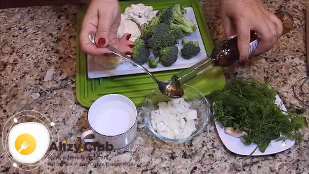 Рецепт салата из брокколи и цветной капусты