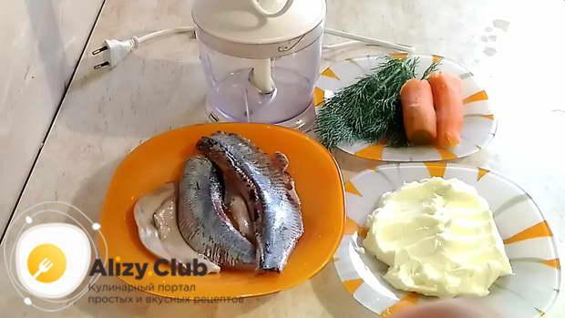 Рецепт селедочного масла с морковью