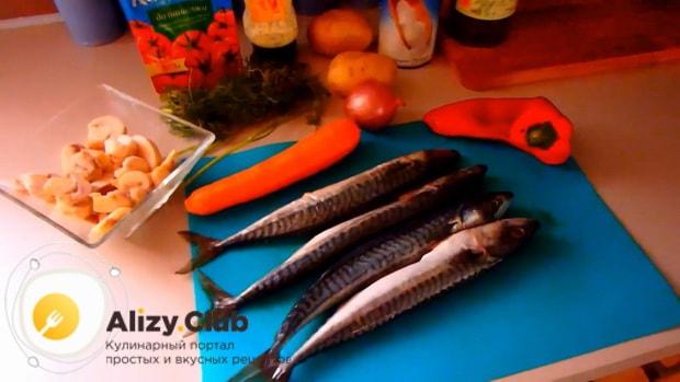 Готовим скумбрию запеченная в духовке с картошкой по простому рецепту