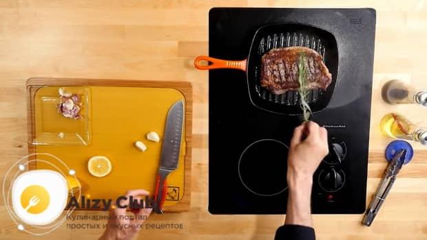 Гогтовим стейкрибай по пошаговому рецепту с фото
