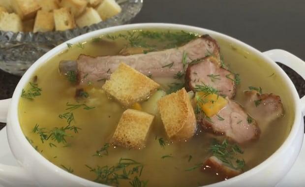 Как приготовить суп из свиных ребрышек