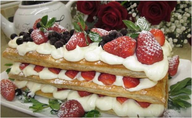 Как приготовить десерт Мильфей по пошаговому рецепту с фото