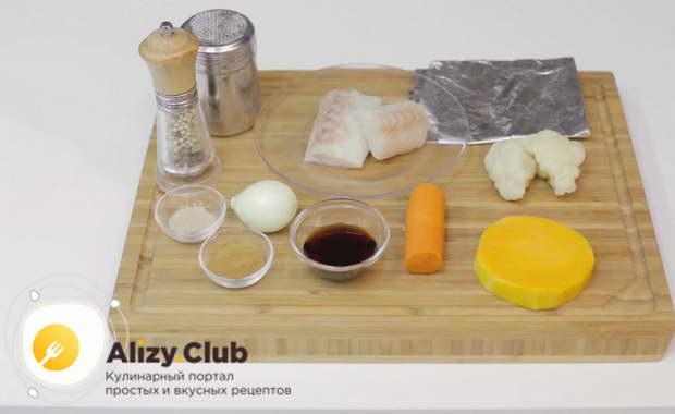 Рецепт запеченной трески с овощами в духовке