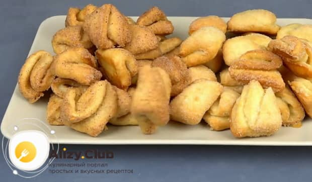 Вкусное творожное печенье треугольники готово