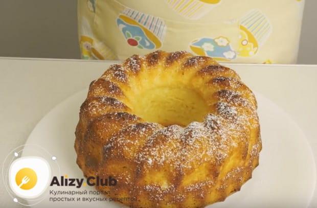 Надеемся, вам понравился наш рецепт большого кекса в силиконовой форме.