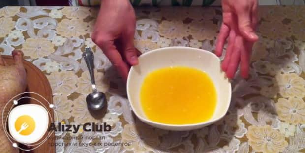 Приготовьте утку в духовке с апельсинами и медом