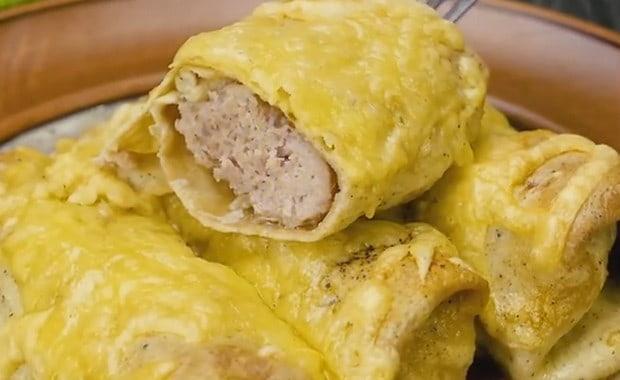 Пошаговый рецепт приготовления яичных блинчиков с фото