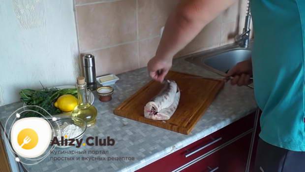 Осетр, жаренный на сковороде