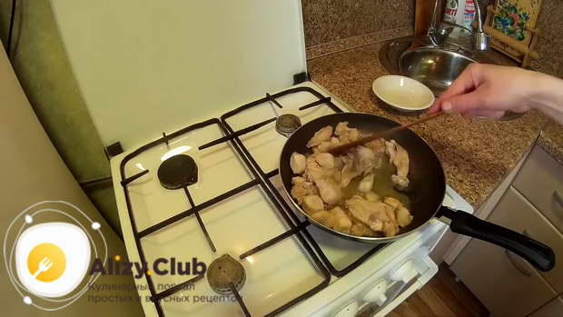 кролик тушеный с картошкой в казане рецепт