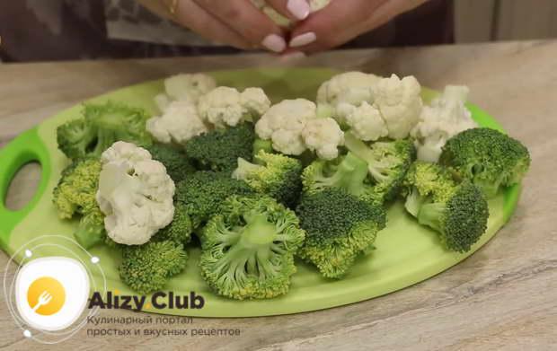 Рецепт запеканки из брокколи и цветной капусты