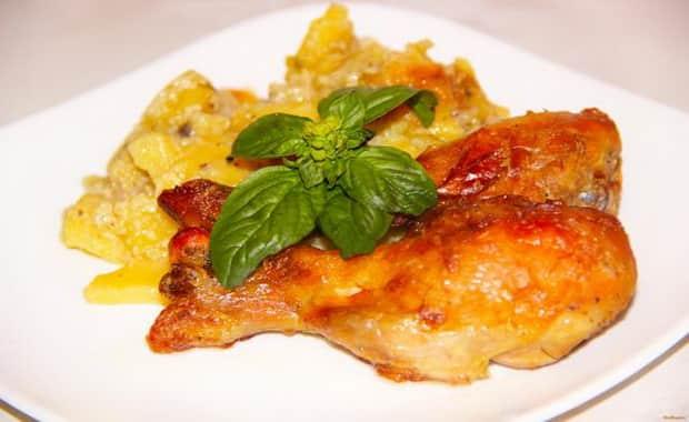 Как приготовить куриные голени в мультиварке