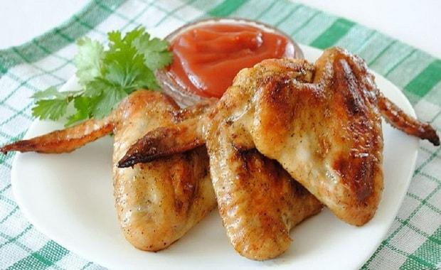 Как приготовить куриные крылышки на сковороде по рецепту с фото