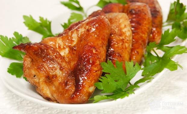 Как приготовить куриные крылышки в медово-горчичном соусе