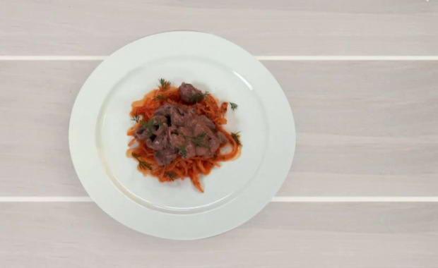 Пошаговый рецепт приготовления куриных сердечек в сметане