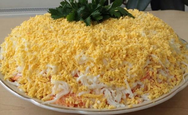 Как приготовить классический салат Мимоза по пошаговому рецепту с фото