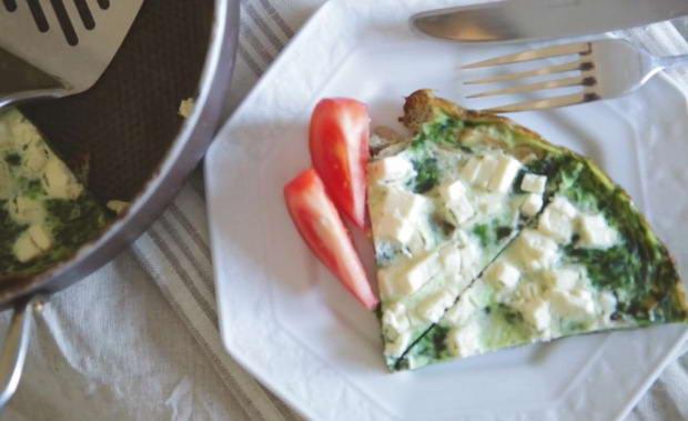 Пошаговый рецепт приготовления омлета со шпинатом с фото