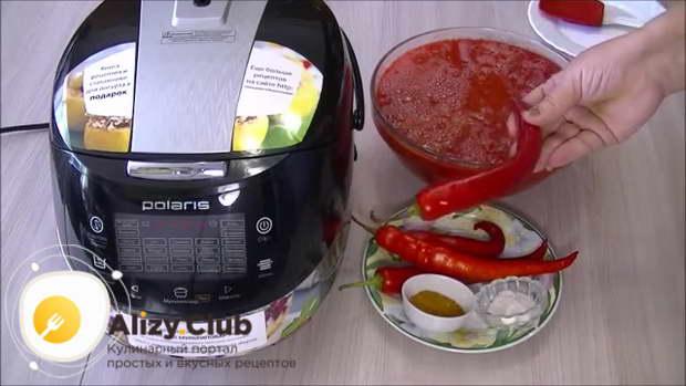 острый томатный соус в мультиварке