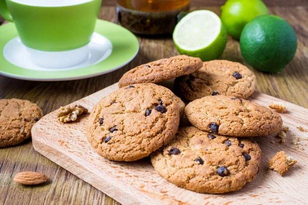 Вкусное печенье из овсяной муки готово