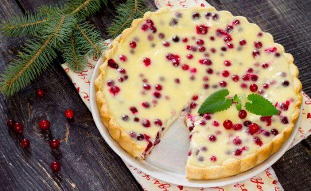 Пошаговый рецепт приготовления пирога с клюквой