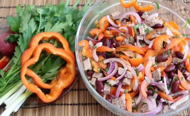 Пошаговый рецепт приготовления салата с говядиной с фото
