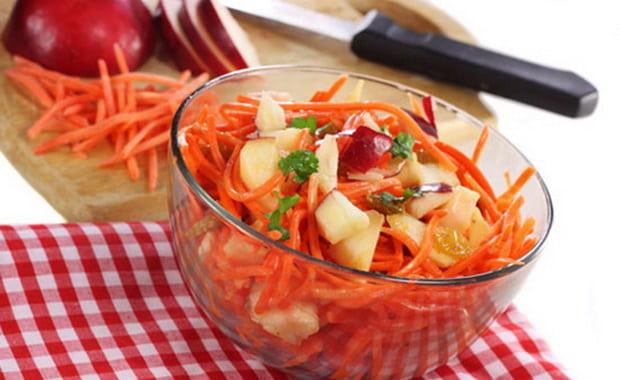 Как приготовить салат из моркови и яблока по рецепту с фото