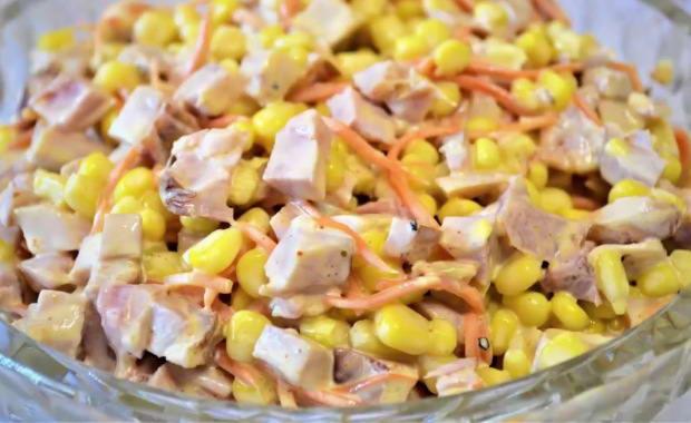 Пошаговый рецепт приготовления салата с курицей и корейской морковью