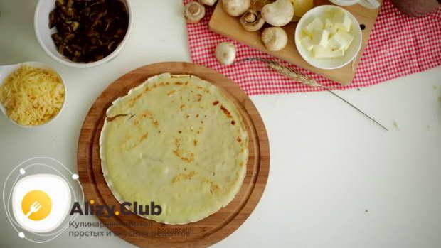 секреты приготовления блинов с грибами и сыром