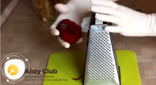 Рецепт классического винегрета с горошком