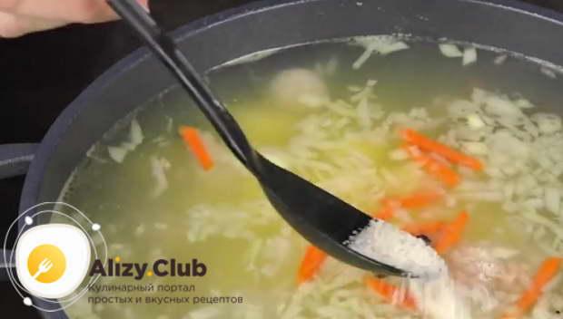 Солим суп по вкусу