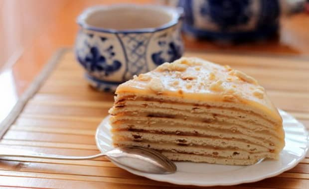 Как испечь торт Наполеон на сковороде по пошаговому рецепту с фото