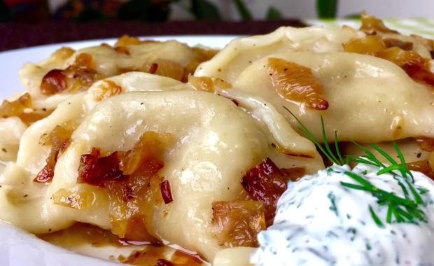 Пошаговый рецепт приготовления вареников с картошкой и грибами