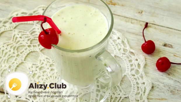 варианты приготовления молочного коктейля с бананом