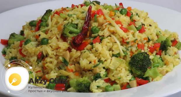 варианты подачи гарнира из риса с овощами