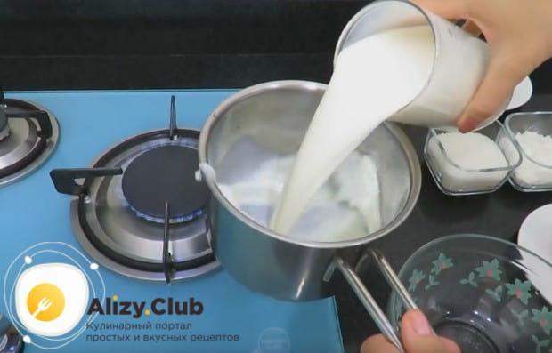 Приготовим заварной крем.
