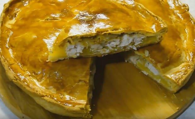 Пирог с курицей и картошкой пошаговый рецепт 44